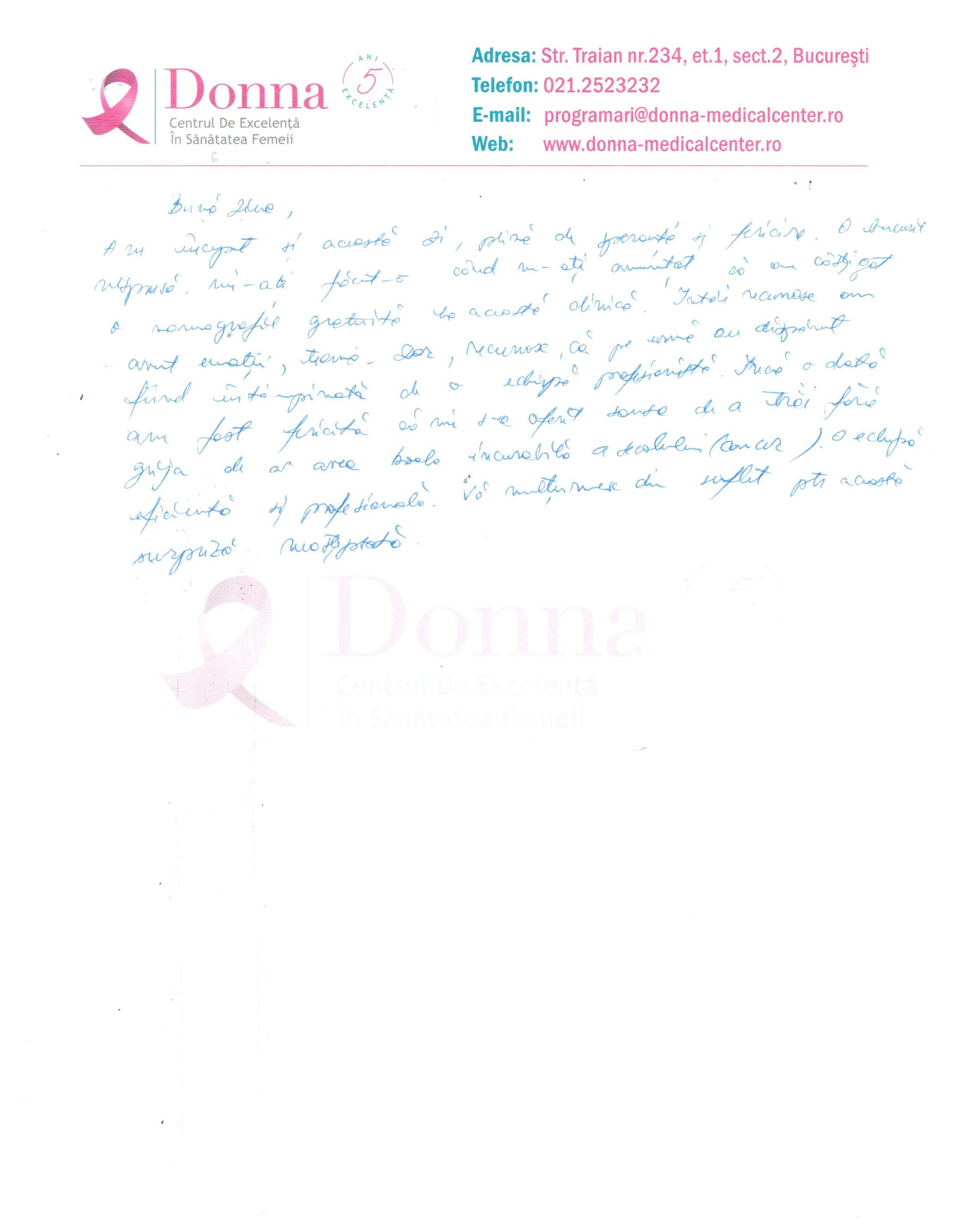 Lăcrămioara - Campania #FiiOsuperDonna, 27.04.2017