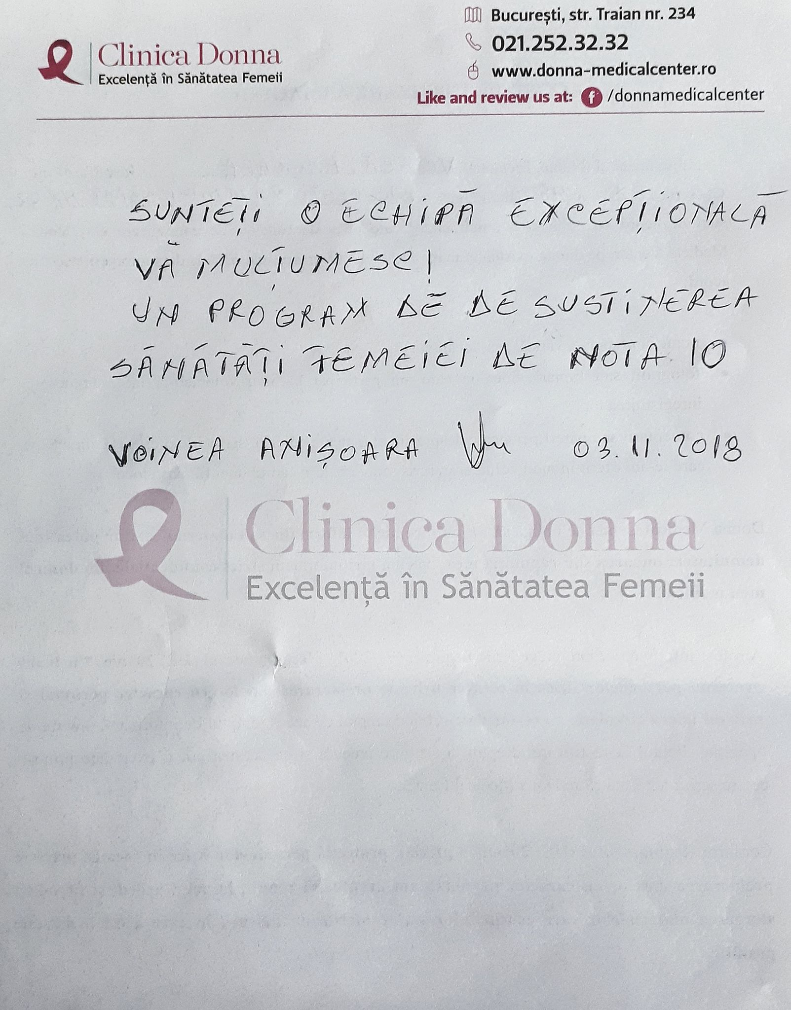 """Voinea Anișoara, Campania socială """"Ziua Șanselor la Viață"""", 03.11.2018"""